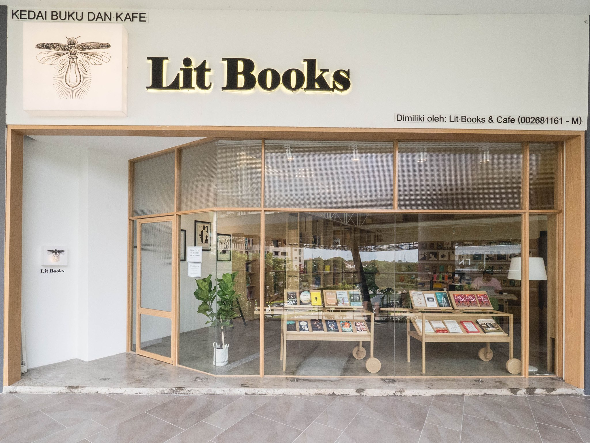 Store view of Lit Books