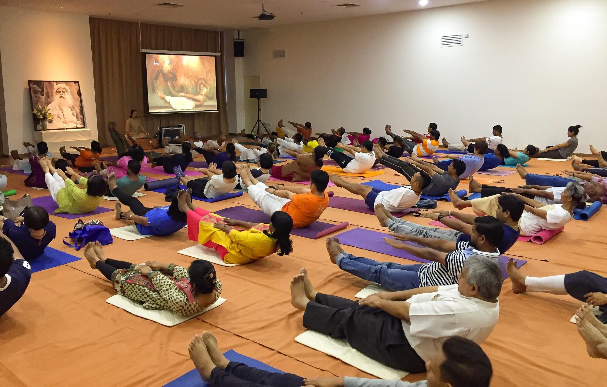 yoga session @ Isha