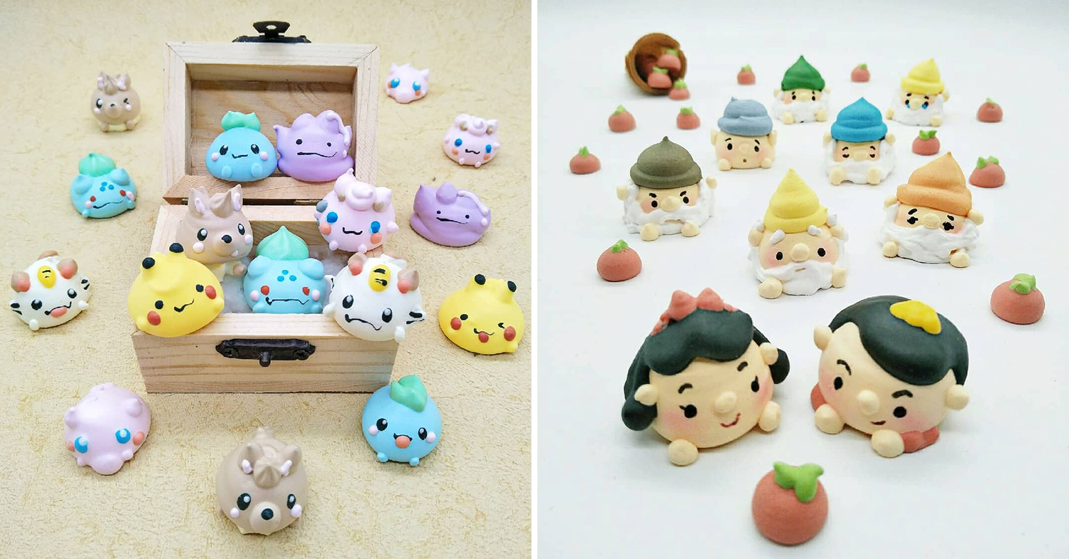 pokemon & snow white meringues