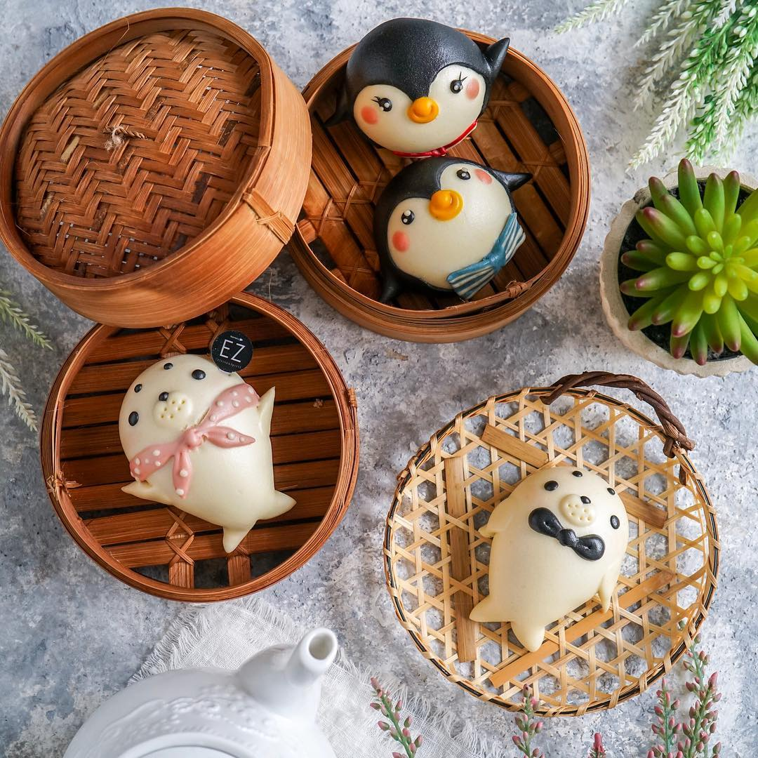 penguin and seal buns