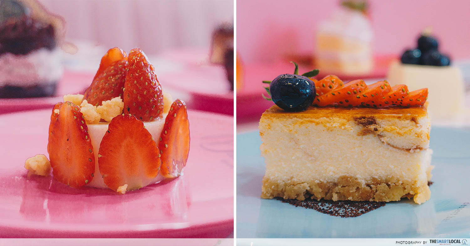 Cheesecakes collage