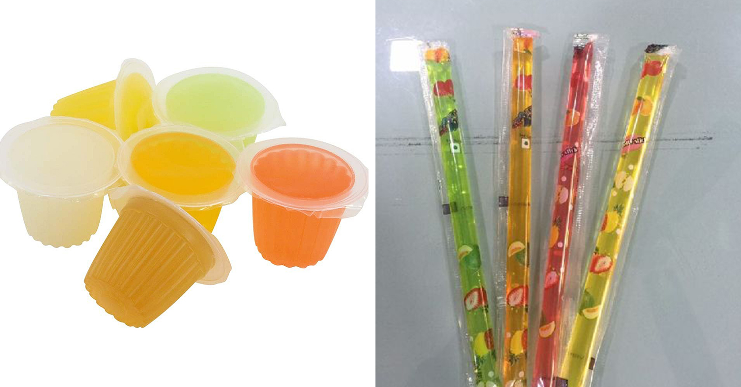jelly cups and sticks