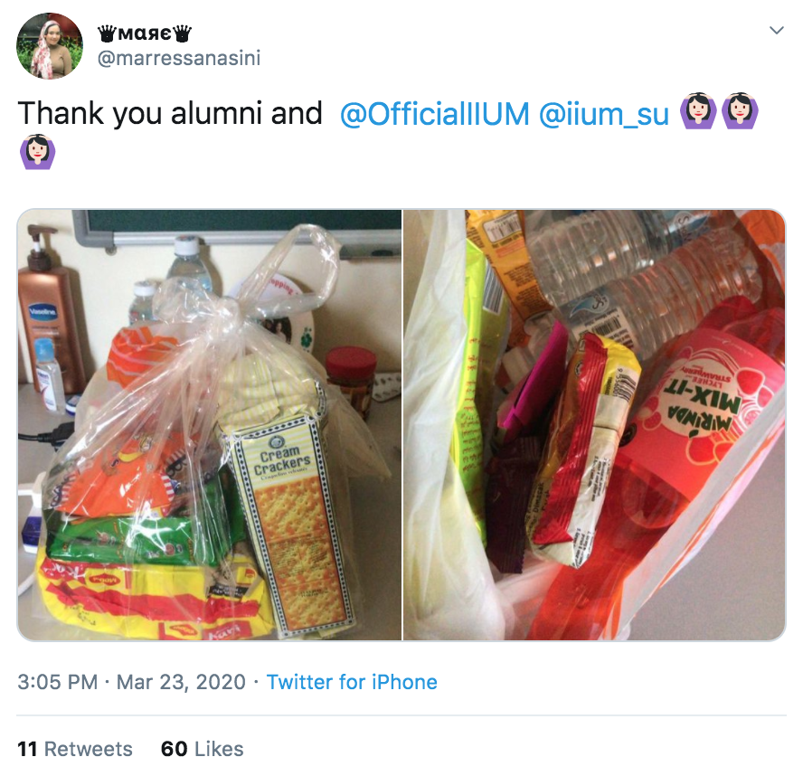 Students given food