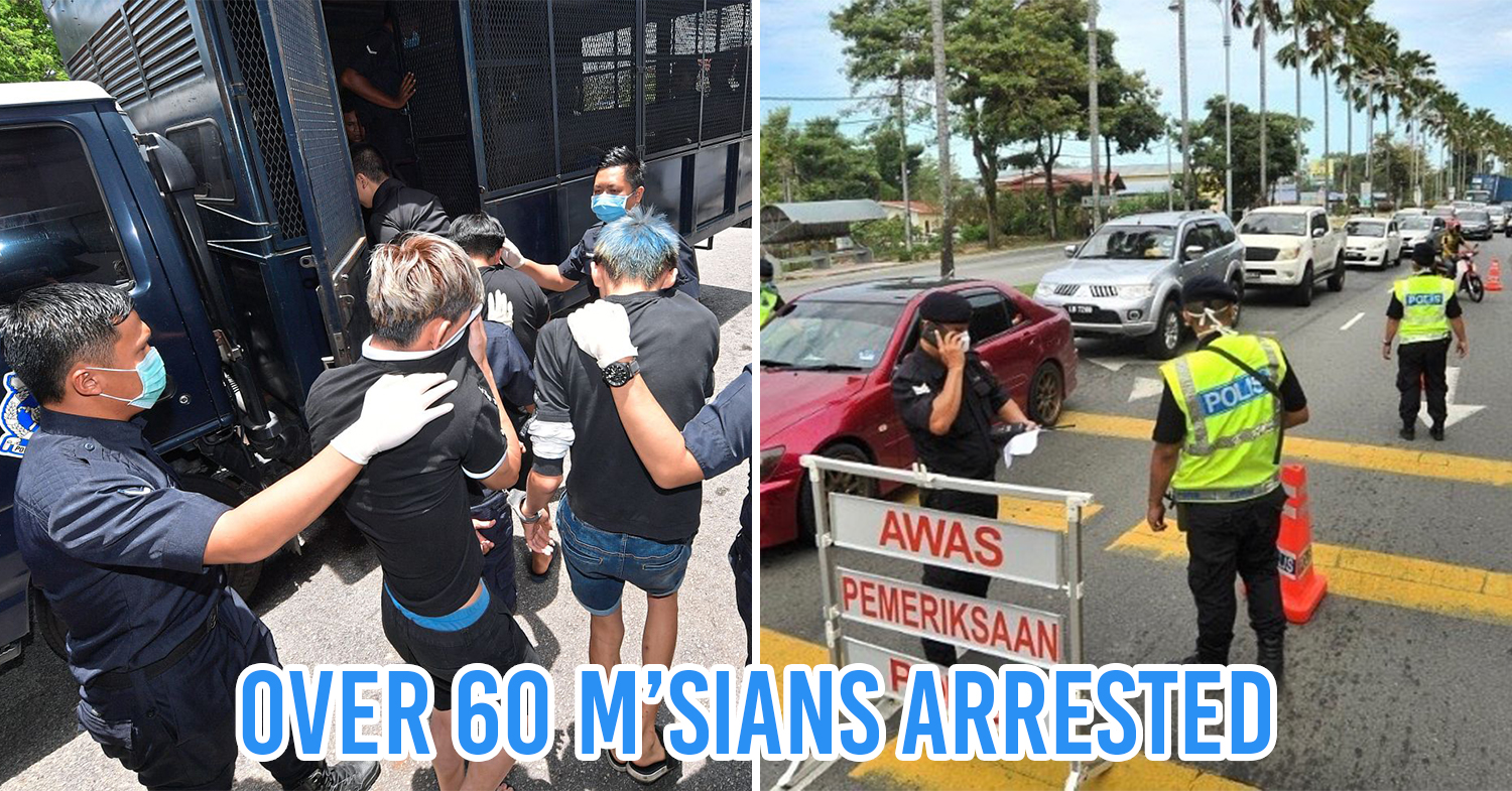 Malaysians arrested during MCO cover pic