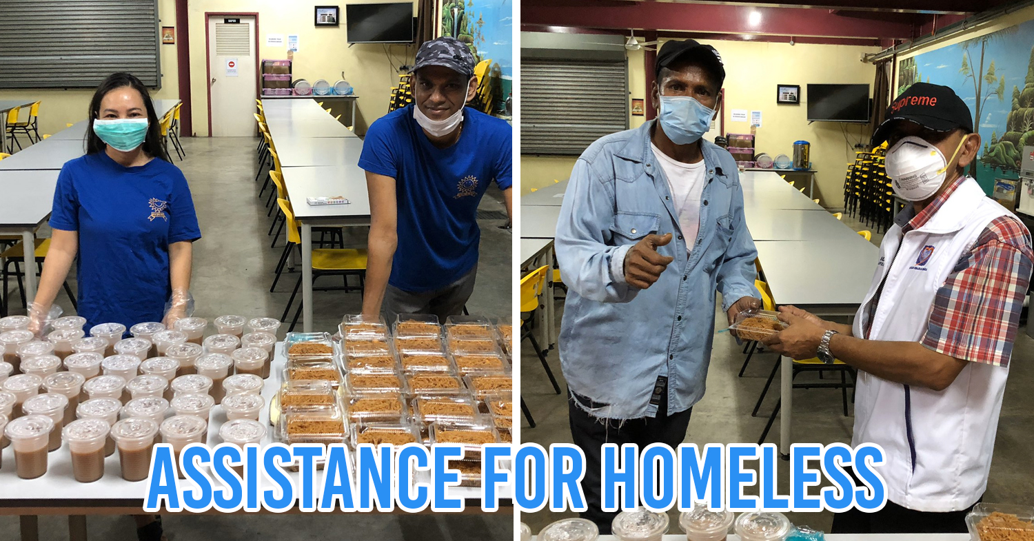 Homeless community receives food