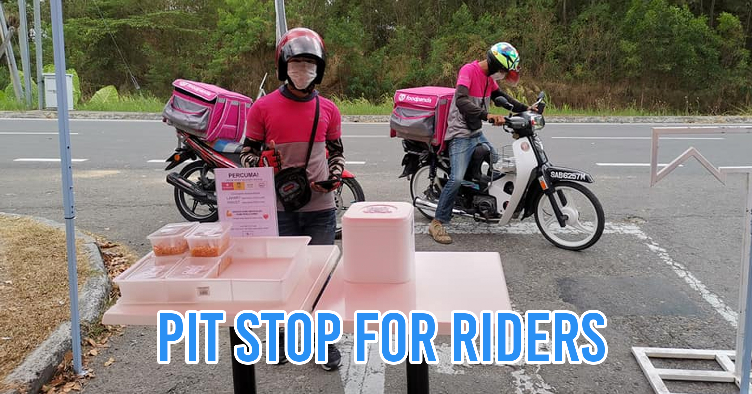Free drinks for delivery riders