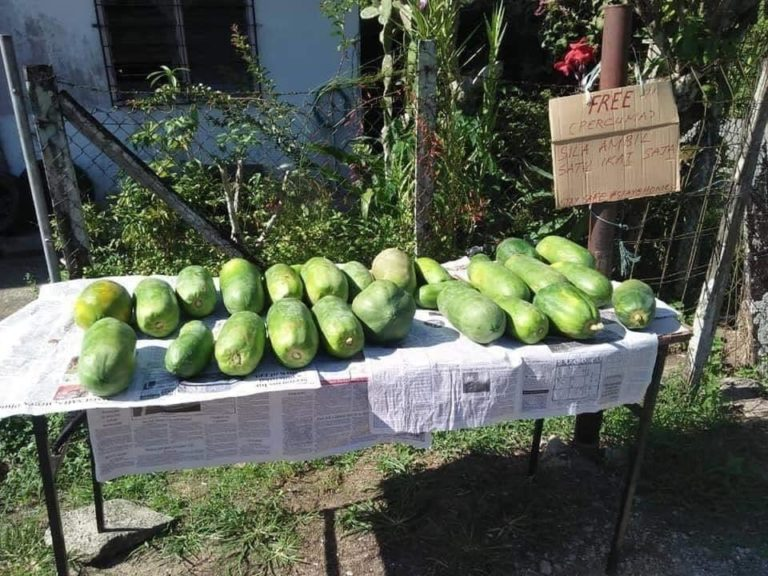 Sabahans Leave Out Free Produce For Their Neighbours So No