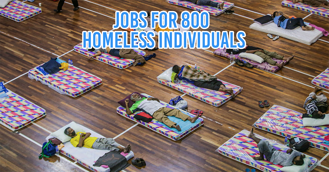 Homeless community in M'sia gets jobs