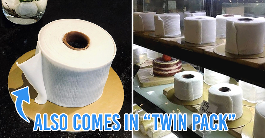 Toilet roll cakes in Malaysia