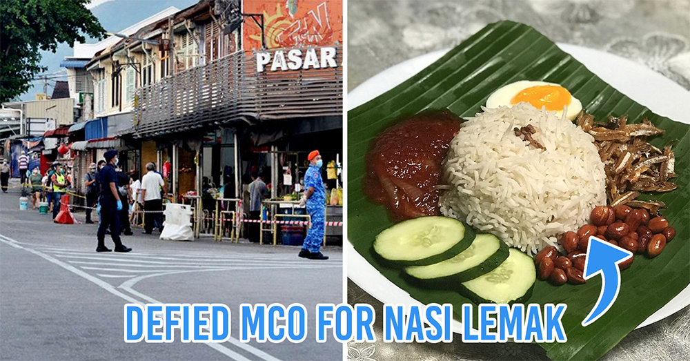 M'sians caught defying MCO for nasi lemak