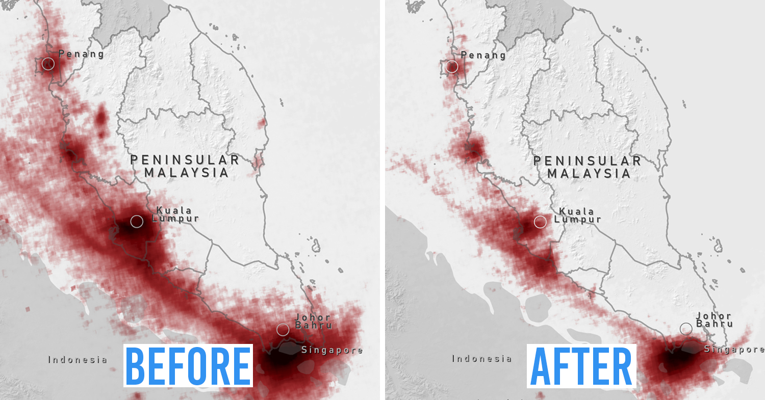 Air pollution drops in Malaysia