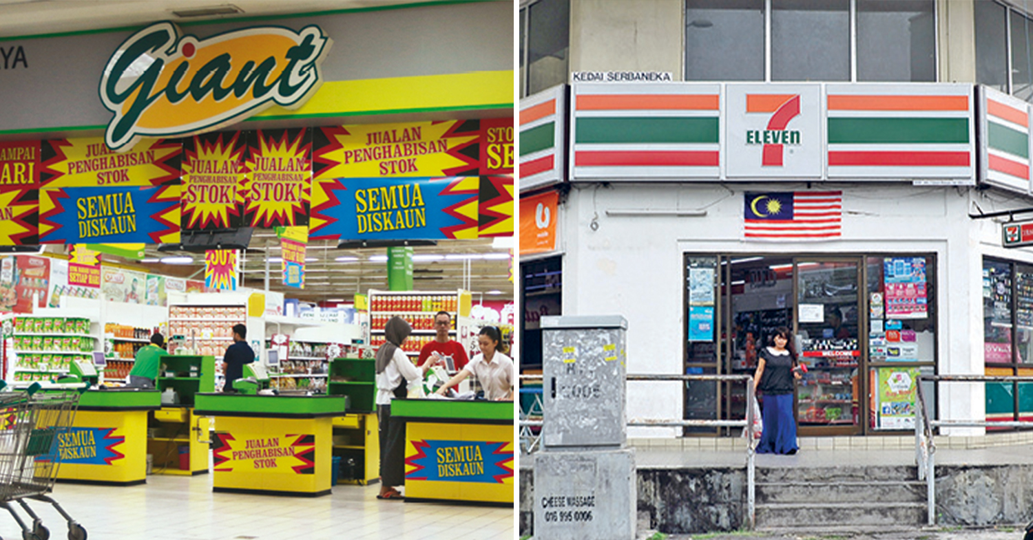 supermarkets and convenience stores