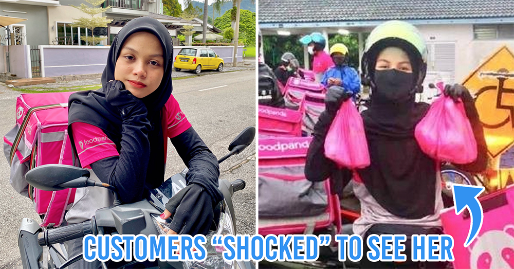 20-year-old female delivery rider in Malaysia