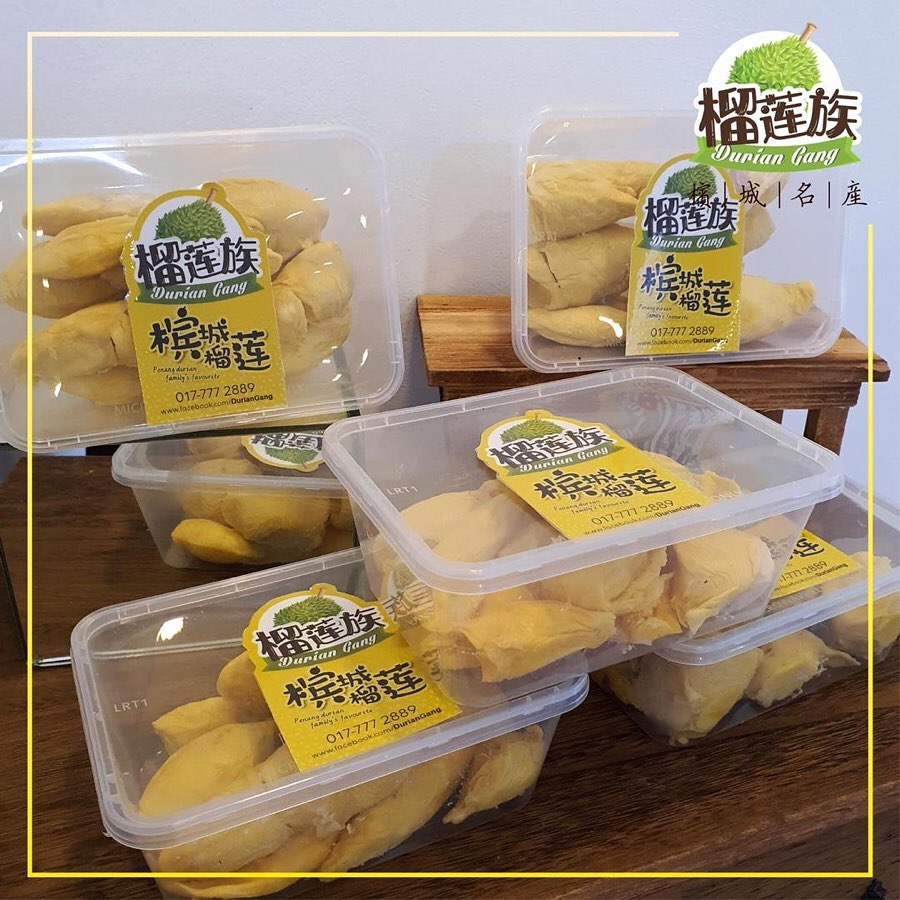 Durian Gang packed boxes