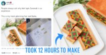 "Sarawakian Man Shares Mum's ""Edible Art"" Kek Lapis & Recipe On Twitter, Netizens Wowed By The Details"