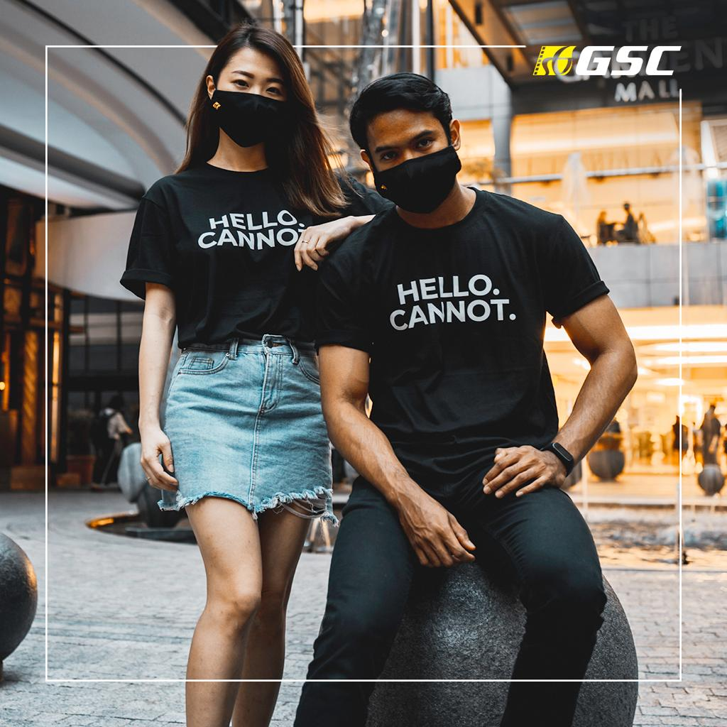 "GSCinemas ""HELLO. Cannot."" Merch - T-shirts"