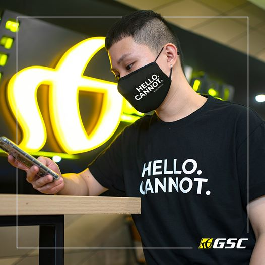 "GSCinemas ""HELLO. Cannot."" Merch - Face Masks"