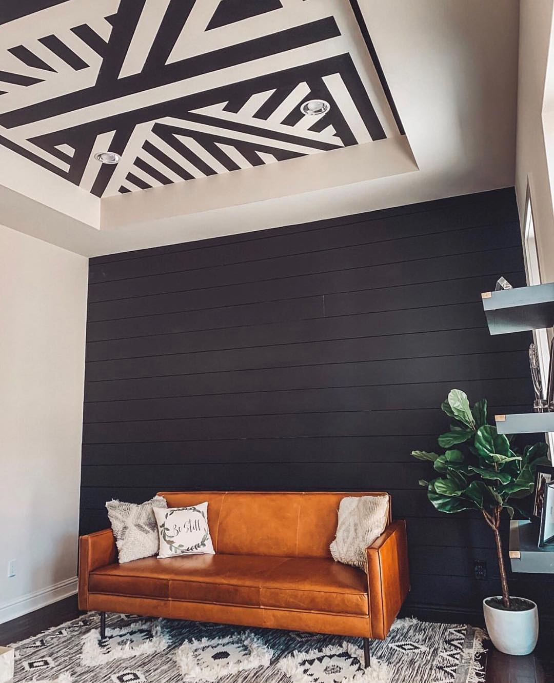 interior design tips - room with ceiling painting