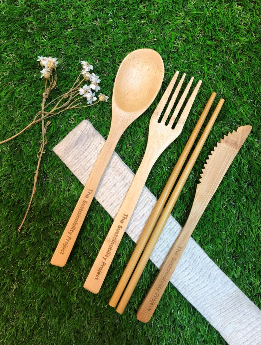 eco friendly food packaging bamboo cutlery