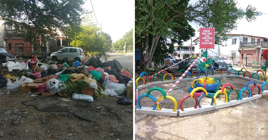 Orange Heroes in Penang - before and after