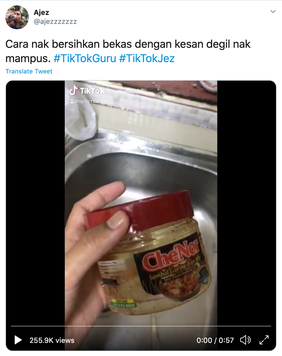 oily sambal container cleaning hack