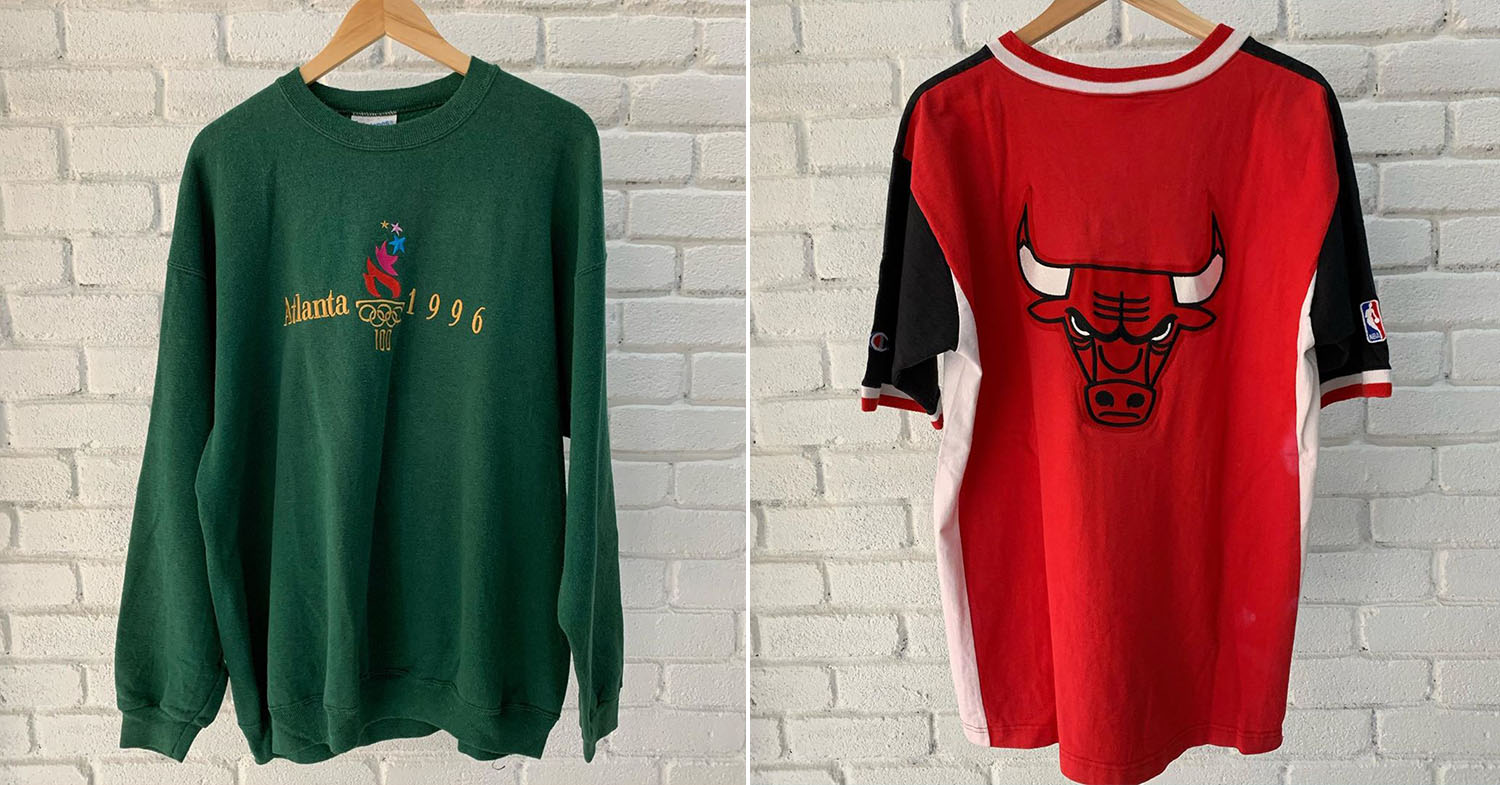 Instagram thrift stores - thrift sweaters and T-shirts