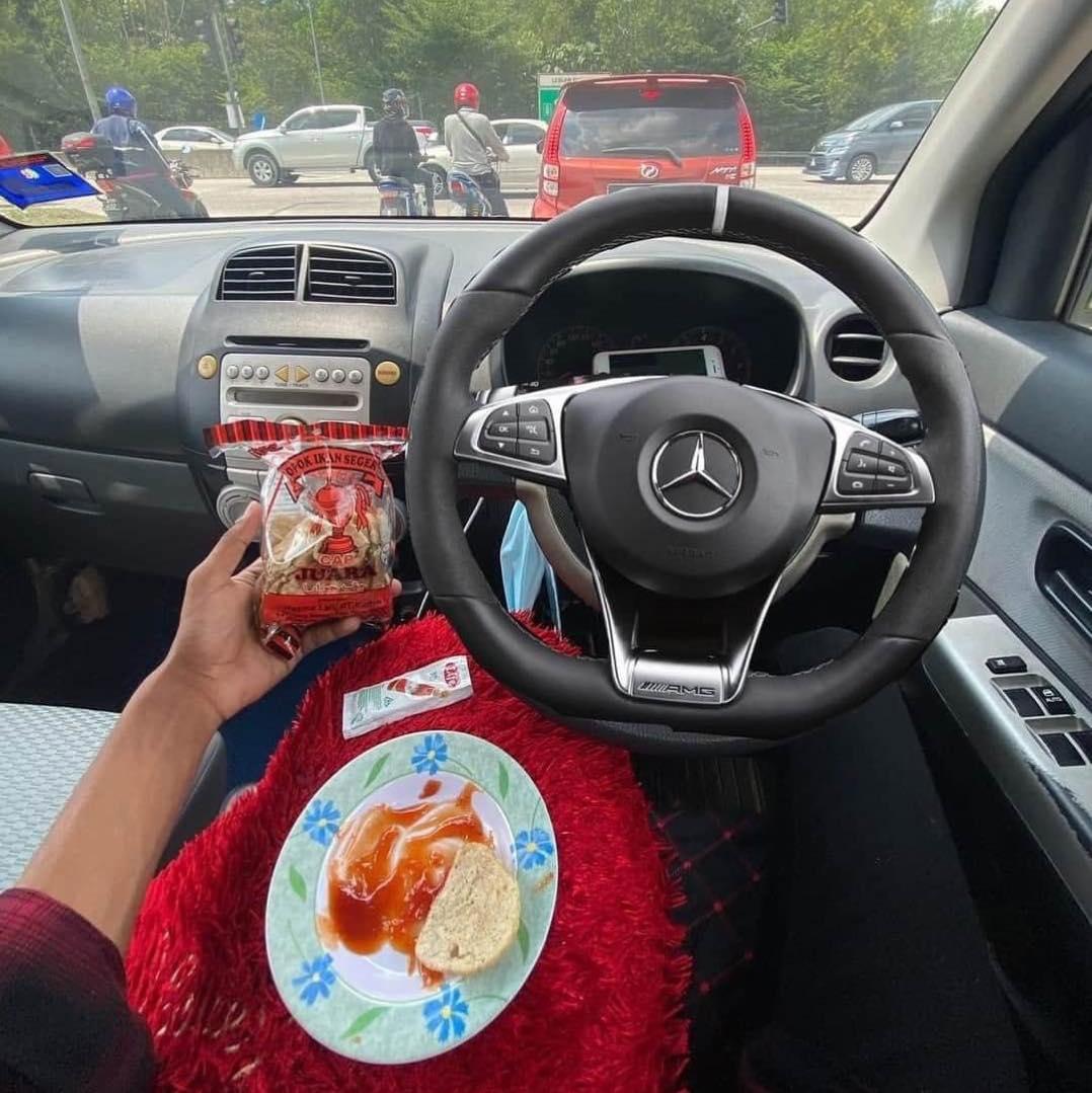 mercedes myvi steering wheel
