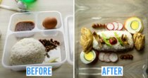 Bored M'sian Man In Quarantine Re-Plates Hotel Meals, Shows Off Atas Versions Of Nasi Lemak & Chicken Rice