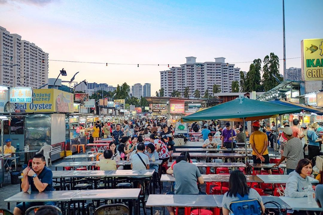Penang Sunset Spots - Gurney Drive Hawker Centre