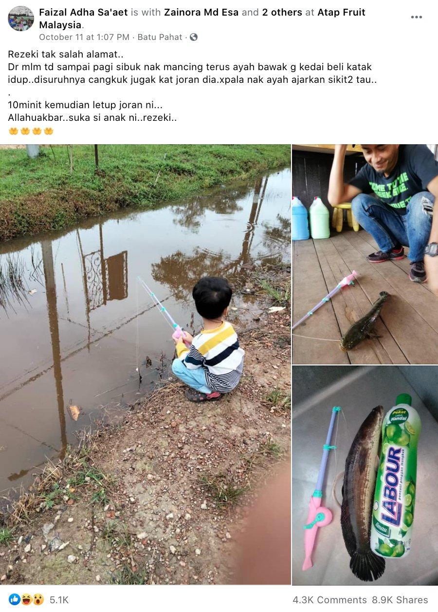 Faizal Adha Sa'aet facebook post