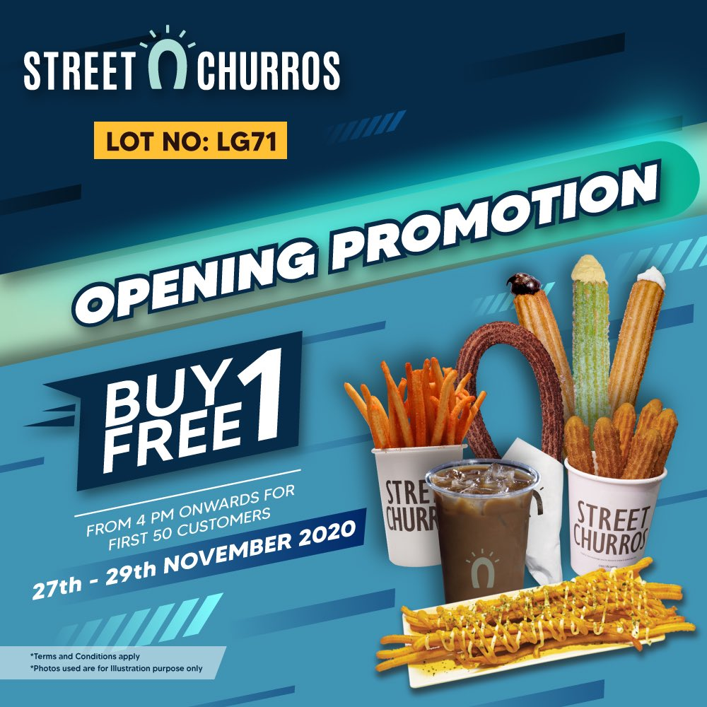 KL East Mall - street churros opening promo