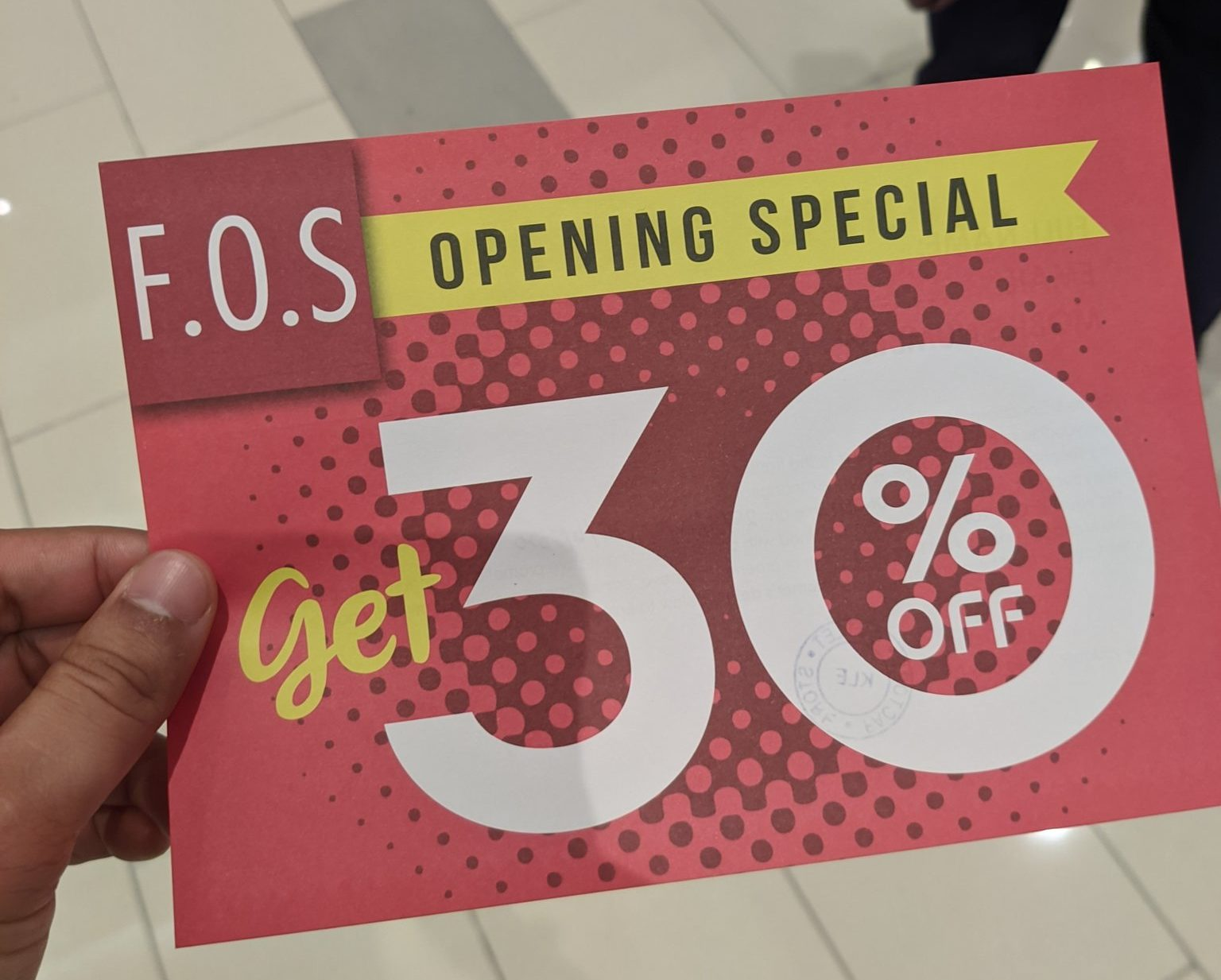 KL East Mall - FOS opening promo