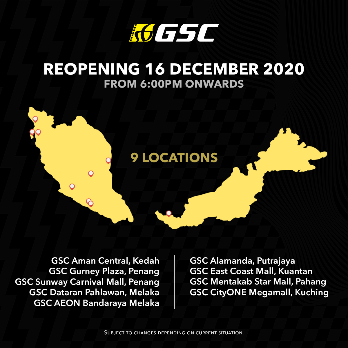 gsc cinemas reopening locations poster