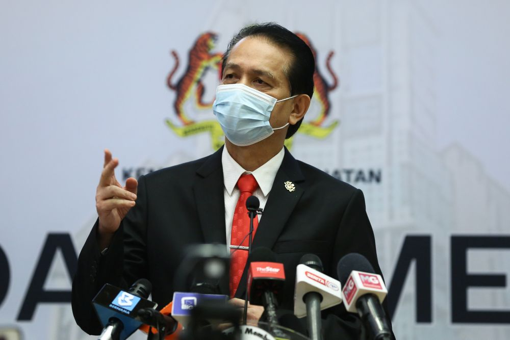 tan sri noor hisham at a press conference