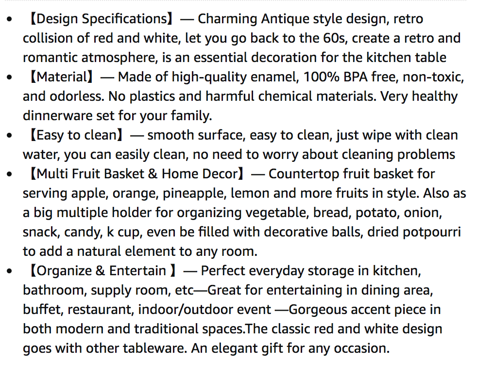 Chamberpot used as basket - product description