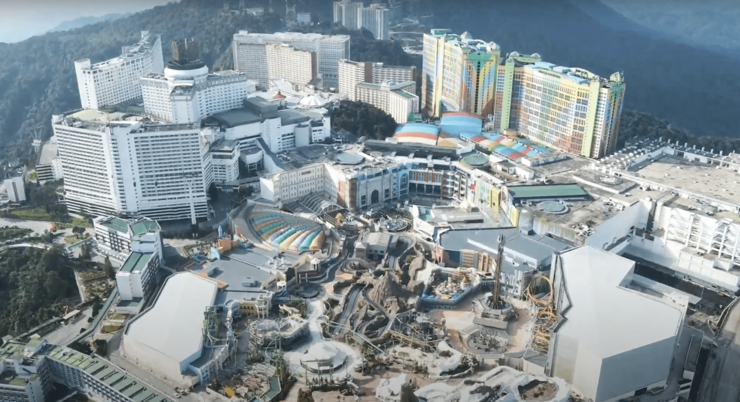Genting Skyworlds - view of theme park