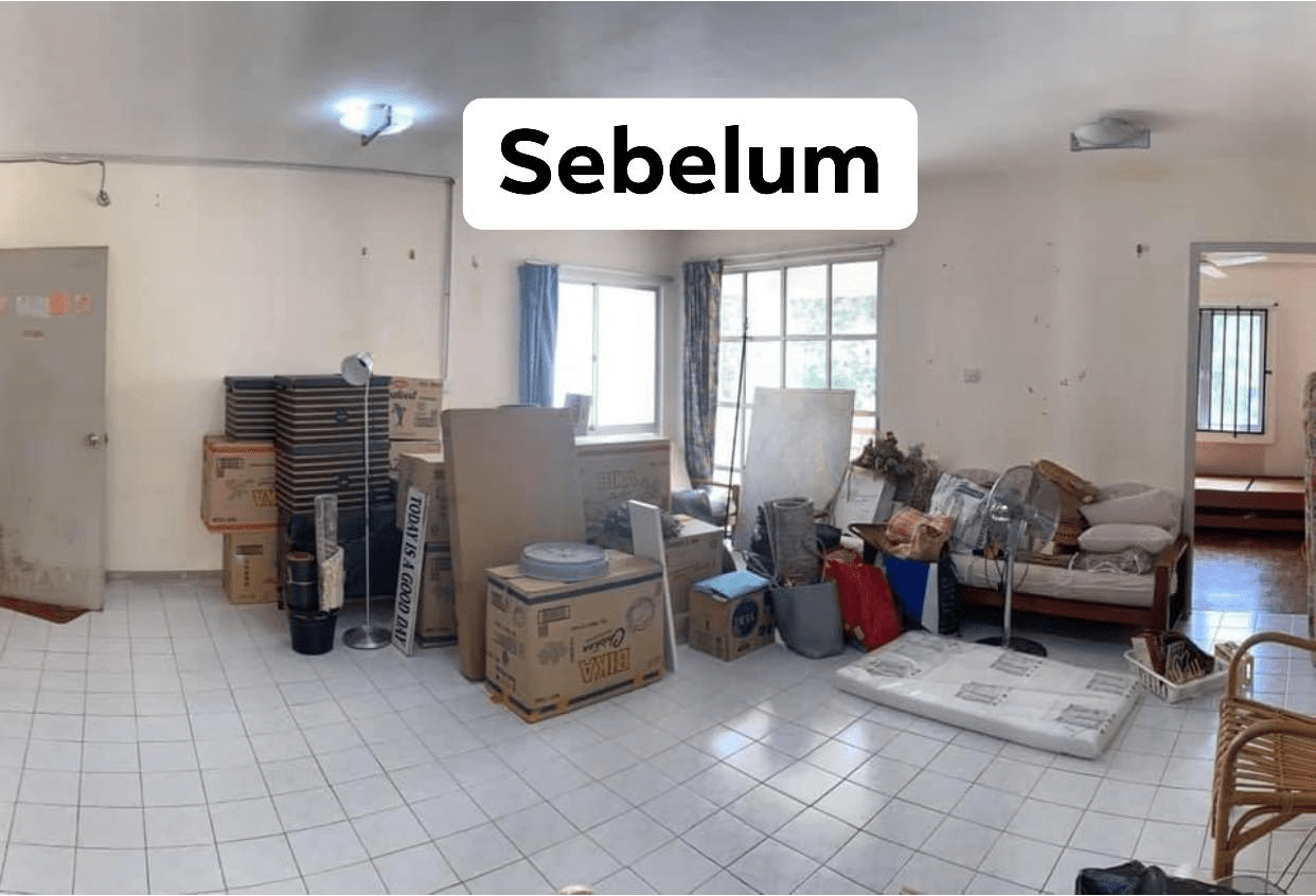 Malaysian's budget home makeover - living room before
