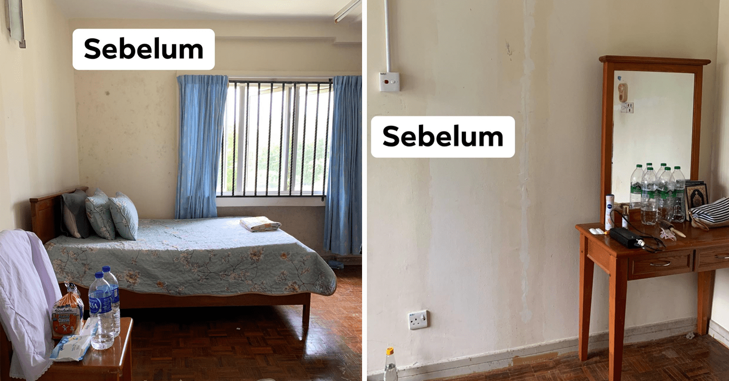 Malaysian's budget home makeover - bedroom before