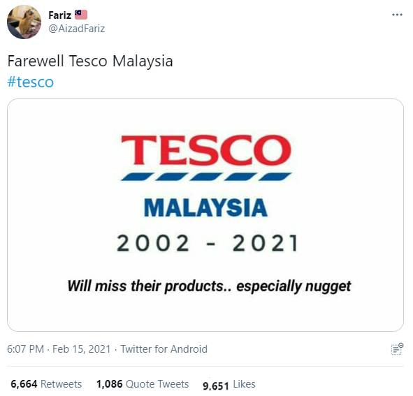 Tesco Malaysia rebrands to Lotuss Stores - Twitter