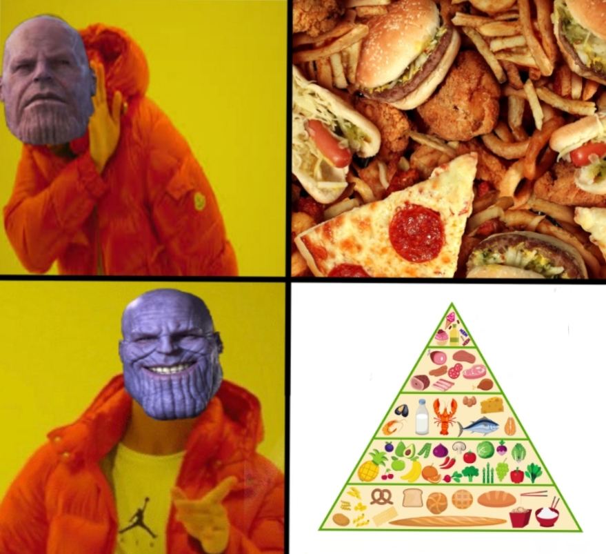 meme about unhealthy eating