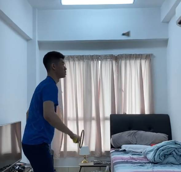 Facts About Lee Zii Jia, Malaysian badminton player - at home practice