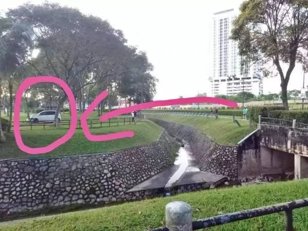 Myvi flies over drain in JB goes viral online - pics with graphics