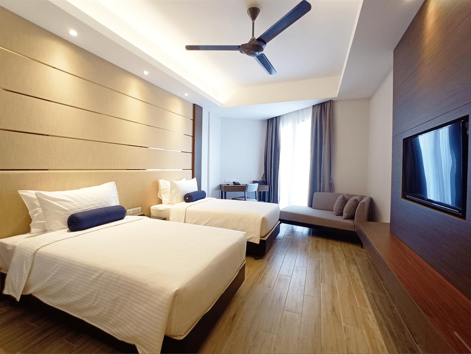 Pacific Regency Beach Resort In Port Dickson - room
