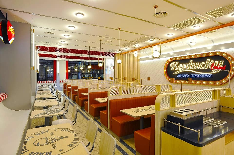 New retro KFC outlet in Klang - seats