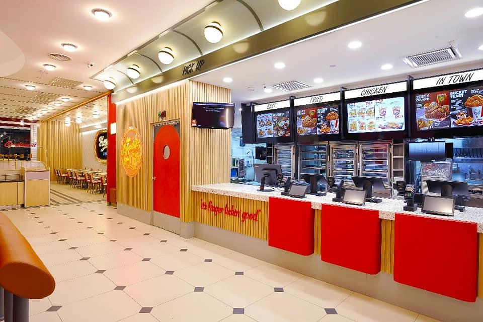 New retro KFC outlet in Klang - ordering area