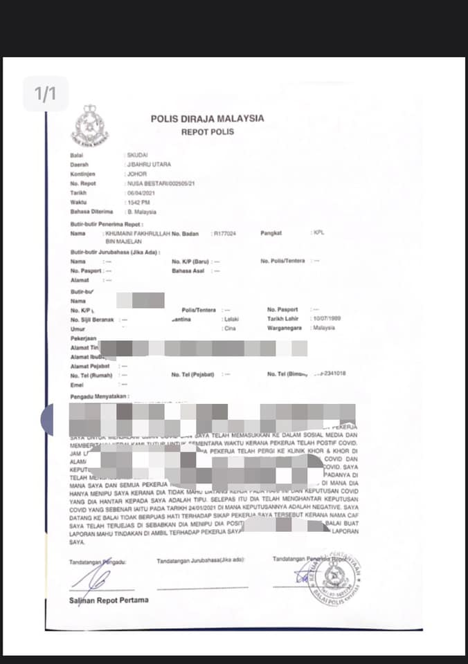 Woman shares fake COVID-19 positive test result to resign from job (1)