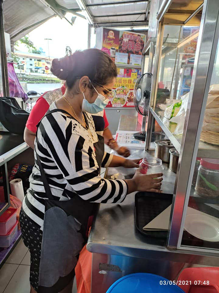 Nasi lemak stall by single mother - mother