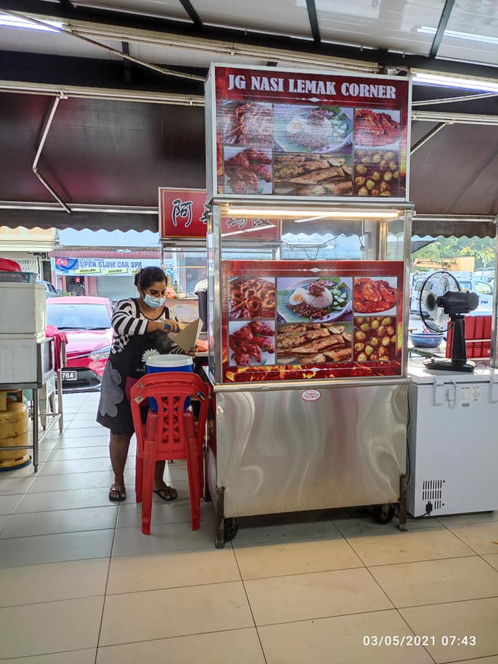 Nasi lemak stall by single mother - stall