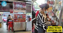 Single Mother Opens Nasi Lemak Stall In JB To Support 3-Year-Old Son Despite Leg Operation