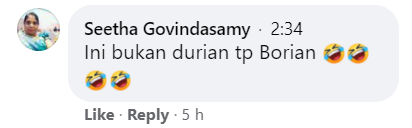 Durian comment